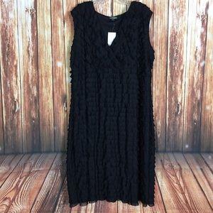 NWT Fashion Bug 3x Black Tiered Layer Midi Dress